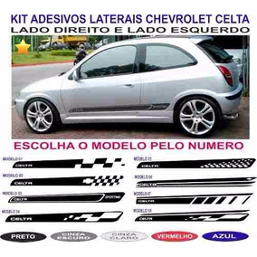 Acessorios Chevrolet Celta Adesivos Laterais Par Faixas