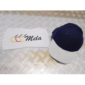 Gorras Combinadas En Dril Azul Marino Con Blanco.