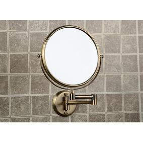 Espejo De Baño Pared Redondo Tipo Antiguo Doble Cara B568
