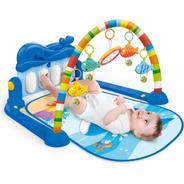 Tapete Interativo Para Bebê Com Piano Baleia Azul - Maxibaby