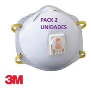 2 Mascarilla Desechable Reutilizable 3m 8511