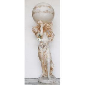 Antigua Escultura Mármol Figura Mujer - Antig La Rueda _ L R