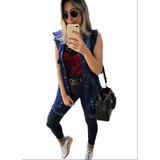Maxi Colete Jeans Comprido Roupas Femininas Instagram