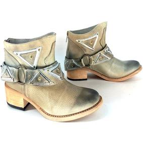 Zapatos Botinetas Botas Mujer Cuero Maggio Rossetto