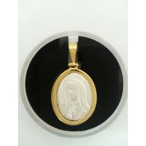 Hermosa Medalla Virgen De Guadalupe Y El Papa Plata Y Oro