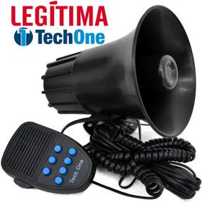 Sirene Automotiva Tech One 7 Tons Com Microfone