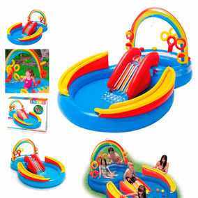 Pileta Pelotero Play Center Inflable Intex Rainbow 19620/0