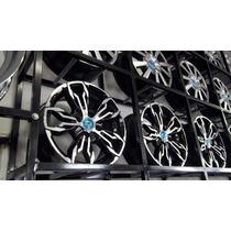 Jogo Roda Audi Rs3 Aro14 4/5furo Palio Siena Mobi Punto Fiat