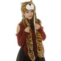 Disfraz Mujer Variada Sombrero Animal Bufanda Guantes 3 En