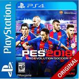 Pro Evolution Soccer 2018 - Pes 2018 Ps4 Codigo Digital Ps4