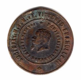 Medalla Italia Inauguracion Bandera Social Año 1895 Vittorio