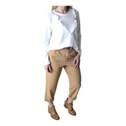 Pantalon De Vestir Pinsado Crepe Sastrero Mujer The Big Shop