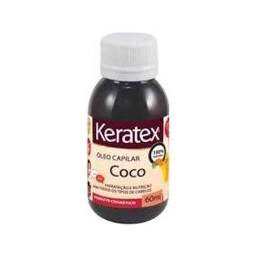 Óleo De Coco Keratex 60 Ml 100% Natural C/ 03 Frascos