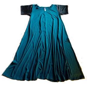 Vestido Super Evasé Con Mangas Engomadas Talle L A 4xl