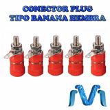 Conector Plug Tipo Banana Hembra Rojo 1 Pieza