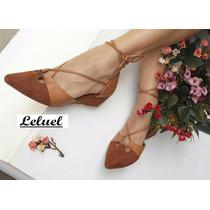 Sandalia Salto Baixo Marca Leluel Shoes Inspiração Arezzo