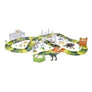 Pista Dinossauro Montar C/ Ponte 8 Dinossauros E Acessórios