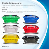 Cesto Supermercado Kit Com 25 Pçs