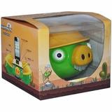 Parlante Portatil Usb Mp3 Micro Sd Fm Angry Birds Pig Verde