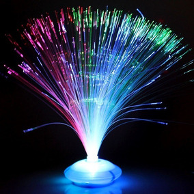 10 Abajur Fibra Ótica Enfeite Mesa Neon Festa 15 Anos Glow