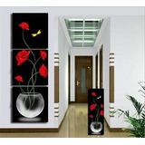 Juego De 3 Cuadros Minimalistas Decorativos Modernos 50x50cm