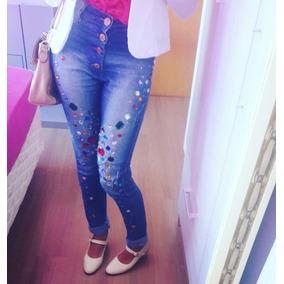 Calça Jeans Com Pedrarias