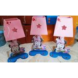 Lamparas Minnie Mouse Baby Personalizadas Centro Mesa Madera