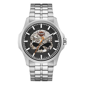 Harley-davidson Mens Willie G Skull Self-winding Stainless S