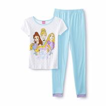 Pijama De Niña 2 Piezas Original Disney, Modelo Princesas T6
