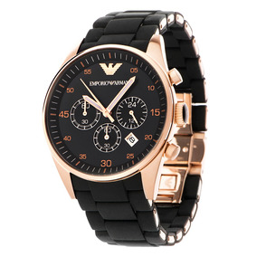 Relógio Emporio Armani Ar5905 Preto Rose Original Garantia