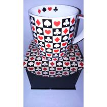 Caneca De Cerâmica Decorativa - Naipes De Cartas