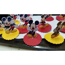 Aplique/rótulo P/ Latinha Ou Caixinha 3d - Mickey - 12 Unid.