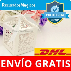 50 Cajas Cajitas Mariposas Dulces Recuerdos Bautizo Boda Xv