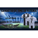 Kit 10 Camiseta De Time Brasileiro Europeus 2018 Atacado