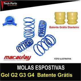 Molas Esportivas Macaulay Vw Gol G2 / G3 / G4 Batente Grátis