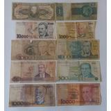 Frete Grátis 10 Cédulas De Dinheiro - Notas Antigas Cod:18
