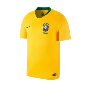 Camisa Deportiva Brasil Nike Color Oro Poliester Is314 A