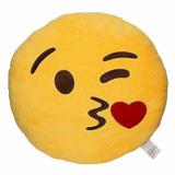 Almohada,almohadon Emojis Emoticon 100%vellon 33cm Bordado!