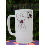 Tarro Para Cerveza Homer Simpson / Personalizado