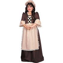 Traje Colonial Chica Niño Disfraz De Rubie, Pequeño