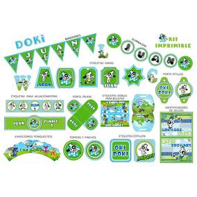 Kit Imprimible Doki Cumpleaños Candy Bar Datos Editables