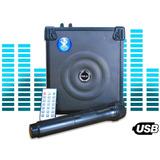 Caixa De Som Amplificada Bluetooth Microfone Frete Gratis