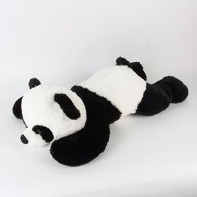 Oso Panda Peluche Grande Acostado Importado Blanco Y Negro
