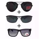Oculos Rb Justin/demolidor/aviador Promoção Pague 1 Leve 3