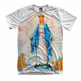 Camiseta Nossa Senhora Graças Santa Igreja Fé Deus Religiosa