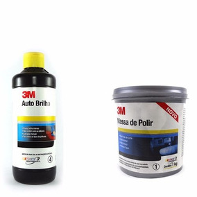 Kit 3m Massa De Polir + 3m Auto Brilho