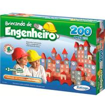 Blocos De Montar Brincando De Engenheiro 200 Peças Xalingo