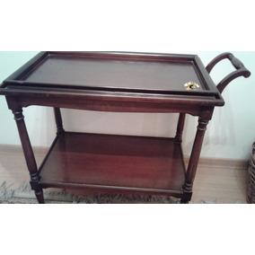 Mesa bar carro antigua de madera con ruedas mesas bar for Bar de madera mercadolibre