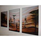 Cuadros Tripticos Reproduccion Pinturas Arte Africanas