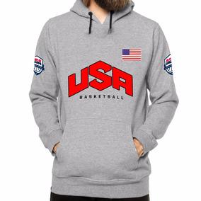 Blusa De Moletom Usa Eua Estados Unidos Basketball Canguru